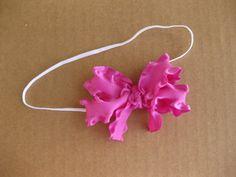 Ruffle Ribbon Bow Headband
