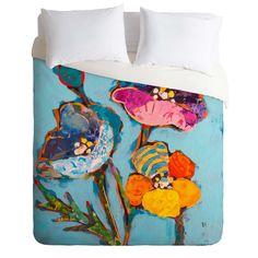 Elizabeth St Hilaire Nelson Poppy Number 3 Duvet Cover | DENY Designs Home Accessories