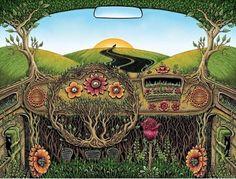 trippy hippie bus #art #nature