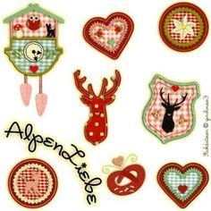Embroidery ♥ ♥ Love Alpine series - ginihouse3