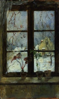 Snow Scene Through a Winter Window, c.1880 by Henry Alexander (American, 1860–1894)