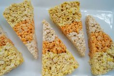 In the Kitchen with Jenny: Candy Corn Shaped Krispie Treats