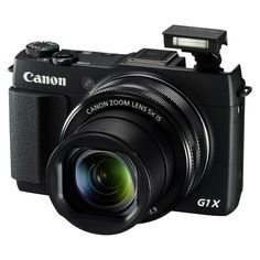 Canon PowerShot G1X Mark II 12.8MP Digital Camera with 5X Optical Zoom - Black