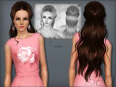 SYNTHESIS BUTTERFLY 116 & NEWSEA J018 HAIRSTYLES by BEO - Sims 3 Downloads CC Caboodle