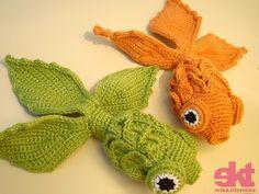 beatiful goldfish amiruguni - tutorial and pattern (portuguese so use translator)