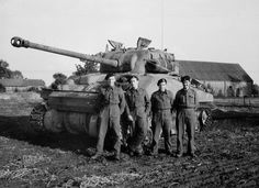 Sherman Firefly tank and crew, 'C' Squadron, 3rd/4th County of London Yeomanry (Sharpshooters), North West Europe, 1944 (c) | Online Collection | National Army Museum, London