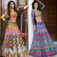 So much color! It lifts the entire mood level in the room. For enquiries and . Mehendi Outfits, Indian Bridal Outfits, Pakistani Wedding Outfits, Indian Bridal Wear, Indian Designer Outfits, Bridal Dresses, Designer Dresses, Pakistani Bridal, Bridal Lehenga