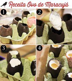 Hoje o WSI trouxe uma receita muito legal para você fazer na páscoa. Esse ovo de chocolate é na verdade recheado de musse com calda de maracujá.