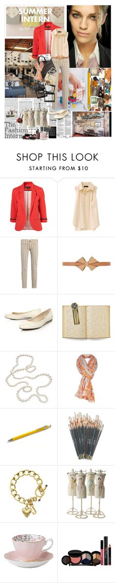 """""""my fashion intern"""" by teacafe ❤ liked on Polyvore featuring SUNO New York, Soma, Current/Elliott, See by Chloé, Nine West, Hermès, The Vatican Library Collection, ONLY, Madewell and Juicy Couture"""