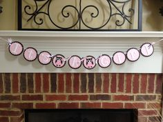 Owl BABY SHOWER Banner or NAME Pink & Brown by TeaLeavesandTwine