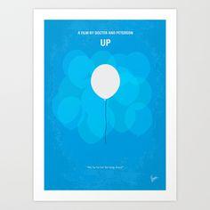 No134 My UP minimal movie poster Art Print by Chungkong - $18.00