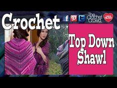 Left Hand Crochet: Top Down Shawl Crochet Tutorial