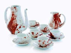 this is a little morbid..but i do like tea sets..and it reminds me of dexter