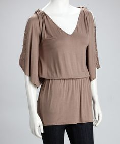 Take a look at this Soul Revival Mocha Blake Tunic  by Fashion Sense: Dresses & Tops on #zulily today!