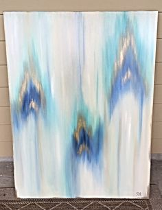 30x40  Feathered by SarahKKreations on Etsy