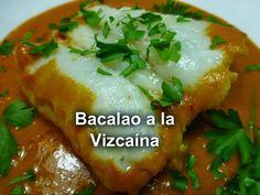 Recetas Caseras Fáciles MG: Bacalao a la Vizcaína Salsa Verde, Baked Potato, Potatoes, Meat, Chicken, Baking, Ethnic Recipes, Food, Youtube