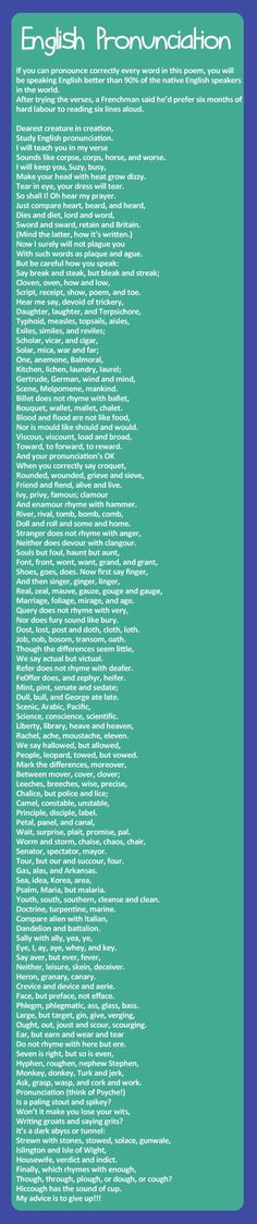 This will help your english pronounciation. This is absolutely fun.