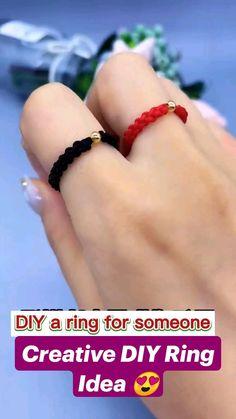 Diy Bracelets Patterns, Diy Friendship Bracelets Patterns, Diy Bracelets Easy, Diy Rings Easy, Diy Jewelry Rings, Diy Crafts Jewelry, Bracelet Crafts, Handmade Wire Jewelry, Diy Crafts Hacks