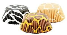 Amazon.com: Fox Run Brands Animal Print Baking Cup Papers, Set of 75: Cupcake Wrappers: Kitchen & Dining