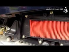 air filter change on a kymco like 200i scooter