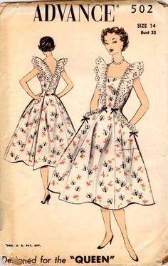 Vintage clothing is making a big comeback everywhere and people are raving about how old can be so in and new. What is it about vintage clothing that people. Vintage Dress Patterns, Clothing Patterns, Vintage Dresses, Vintage Outfits, 1950s Dresses, Vintage Clothing, Wrap Clothing, 1950s Fashion, Vintage Fashion