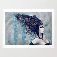 Zodiac Sign: Aquarius Art Print by Yuhon - $17.00