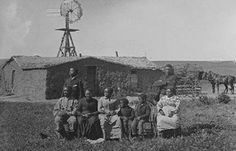 The Moses Speese family pictured here after moving west in 1888.  This picture was taken near Westerville, Nebraska