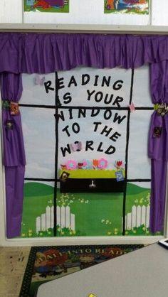 Cute bulletin board I made for IWA Library