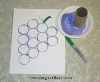 Have fun learning about the color purple with this Purple Grape craft.