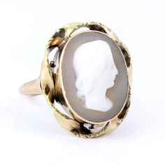 Shell Cameo Antique Ring Jewelry via Etsy.