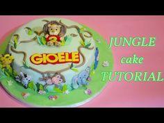 jungle cake tutorial fondant - torta giungla in pasta di zucchero - YouTube