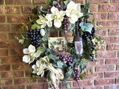 Decorative Magnolia Grape Wine Cellars Wreath by tlgsilkfloral, $89.95