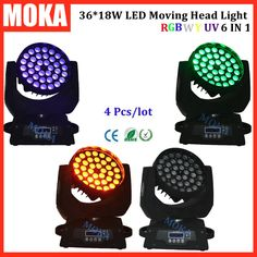 1880.00$  Watch now - http://alinfq.worldwells.pw/go.php?t=32704052142 - 4 Pcs/lot hot sale 4 in1 flightcase+ led moving head wash 36*18w rgbwy uv 6 in1 beam moving head light dmx for disco dj bar