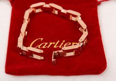 Браслет Cartier (Картье) Love в виде цепочки из звеньев золотистого цвета в оригинальной упаковке #19907