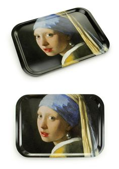 Serving Tray, Medium - Girl with a Pearl Earring, Johannes Vermeer - € 18,95 - #museum #souvenir #vermeer