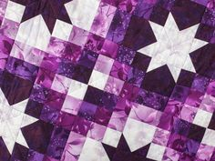 Reach for the stars! Stitch a shimmery night sky into your next quilt with this twinkling top.