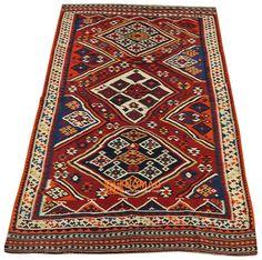 alter persischer Kelim Qashqai 182 x 282 cm