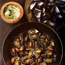 Delia Smith's Mussels with Garlic Stuffing