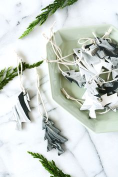 Marble Tree Ornaments
