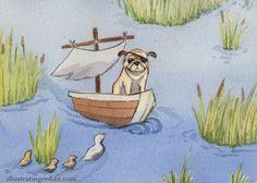 Pug At Sea (prints $7)