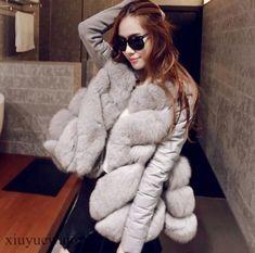 Warm Women's Waistcoat Faux Fur Clothing Clock Vest Coat Outwear Sleeves Fashion