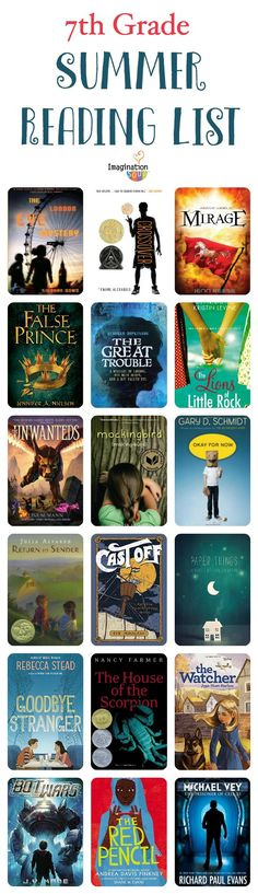 9 Best 7th Grade Reading List Images Playlists Reading Lists Reading