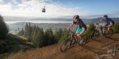 The gravity trails allow mountain bikers to get plenty of air. Donna McIntyre and family visit New Zealand's number one off-road cycling destination.
