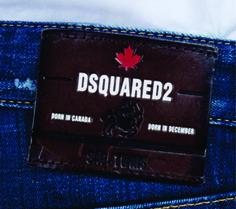etiqueta de cintura para jeans Dsquared2