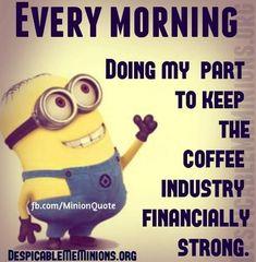 New funny humor coffee minions quotes Ideas Coffee Humor, Coffee Quotes, Funny Coffee, Minions Love, Funny Minion, Minions Minions, Minion Talk, Minions Friends, Minion Rush