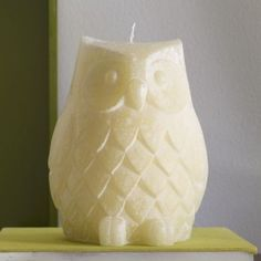 owl candle by ellen