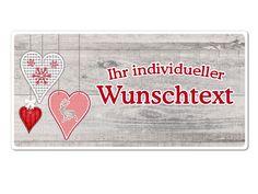 """Hüttendeko-Schild mit Wunschtext und Herzen - 200 x 100mm . Hüttendeko-Schild mit Wunschtext und Herzen - 200 x 100mm  Unsere Dekoschilder """"Hüttendeko"""""""