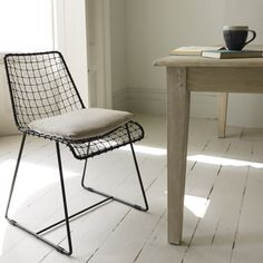 Hand Welded Wire Kitchen Chair | Geronimo Black | Loaf
