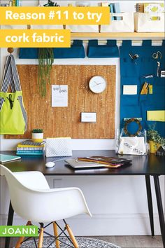 Do you know what that blank wall needs in your home office? A handmade memo board like this! Cork Panels, Spray Glue, Cork Fabric, Project List, Creative Skills, Blank Walls, Easy Diy Projects, Diy Crafts, Simple