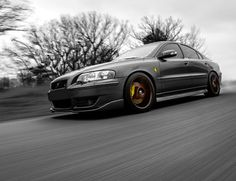 Great B&W of this S60R in motion.